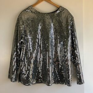 3 for $25 SALE Vintage Sequin Disco Top